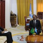 Madaxweynaha Soomaaliya oo la kulmay wasiirka arrimaha dibada Jamhuuriyada Islaamiga Mauritania