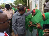 Somali President arrives in Dadaab refugee camp in Kenya