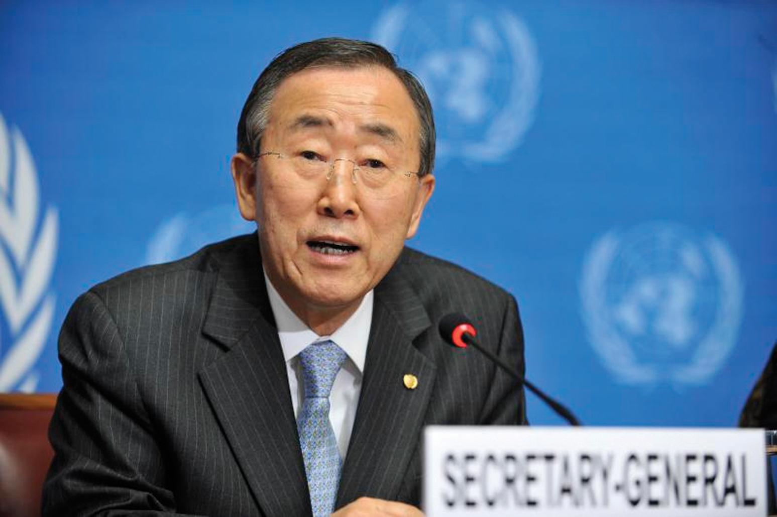 Xoghayaha guud ee Qaramada Midoobay Ban Ki-moon. [Sawirka: Archive]