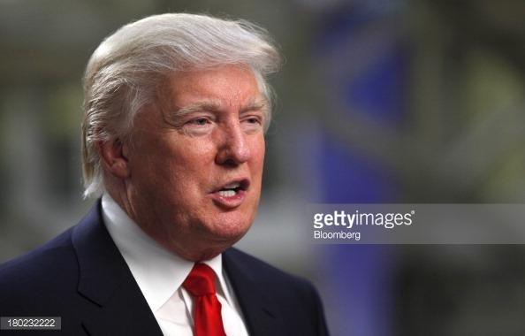 Madaxweeynaha la doortay ee Mareykanka Donald Trump. [Sawirka: Bloomberg News]