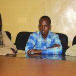 Puntland's Bari security authorities displays three Al-Shabab officials in Bosaso