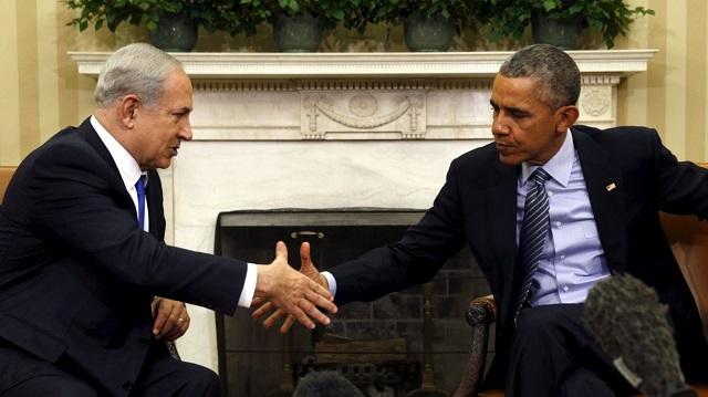Obama iyo Netanyahu.