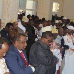 Hassan Sheikh participates in Eid Al-adha prayer at Isbahaysiga mosque in Mogadishu
