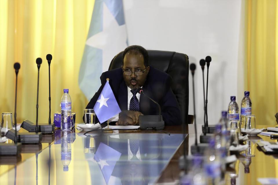 Somali President, Hassan Sheikh Mahamoud. [Photo: Villa Somalia]