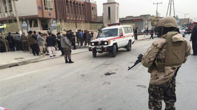 Masaajidka Baqer-ul-uloom ee gudaha magaalada Kabul. [Sawirka: Reuters]