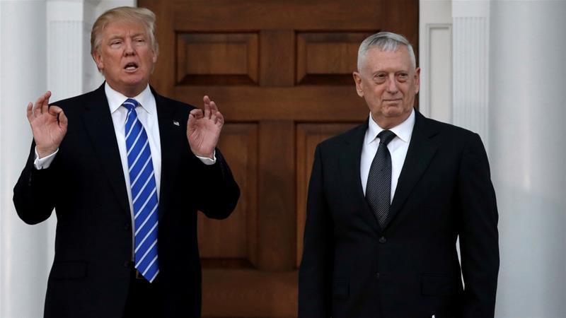 Donald Trump ayaa sheegay in magacaabida rasmiga ah ee Mattis ay imaan doonto Isniinta soo socota. [Sawirka: Reuters]