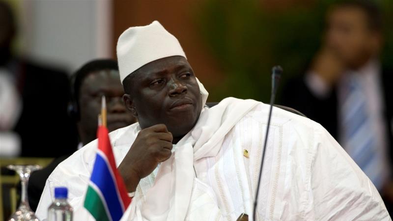 Madaxweynaha dalka Gambia Yahya Jammeh. [Sawirka: Reuters]
