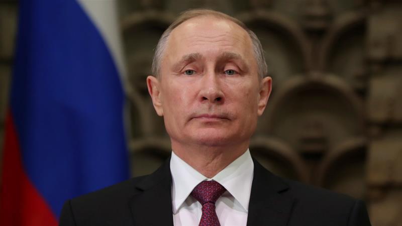 Madaxweynaha dalka Ruushka Vladimir Putin. [Sawirka: Al Jazeera]