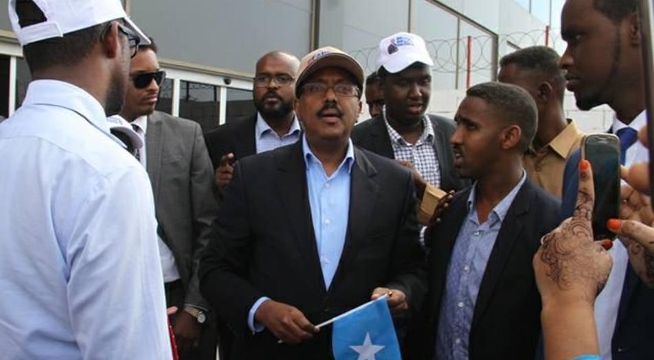 Raysulwasaarihii hore ee dowladda federaalka Soomaaliya Maxamed Cabdullaahi. [Sawirka: Twitter]