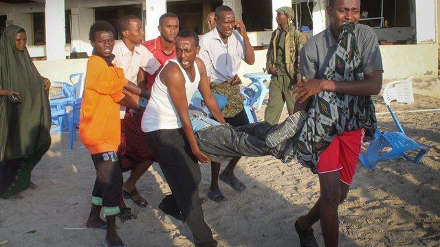 At least three killed in tea shop blast in Mogadishu. [Photo: Archive]