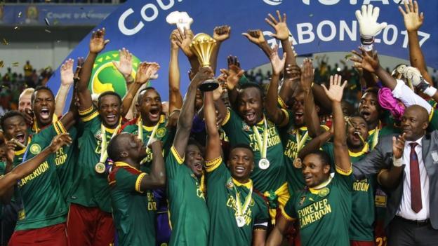 Cameroon oo ku guulaysatay koobkeedii kowaad ee Koobka Qaramada Afrika. [Sawirka: BBC]
