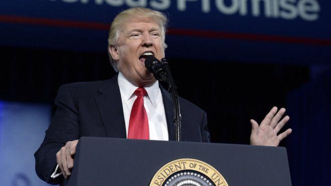 Madaxweynaha dalka Mareykanka Donald Trump. [Xigashada Sawirka: Getty Images]