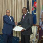 Kenyan president accepts invitation to Farmajo's inauguration