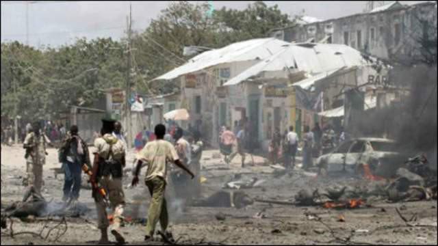 Nearly 20 killed in blast at Mogadishu market. [Photo: Twitter]