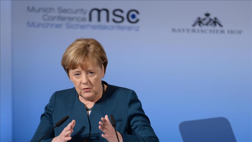 Hoggaamiyaha dalka Jarmalka Angela Merkel. [Xigashada Sawirka: Anadolu]