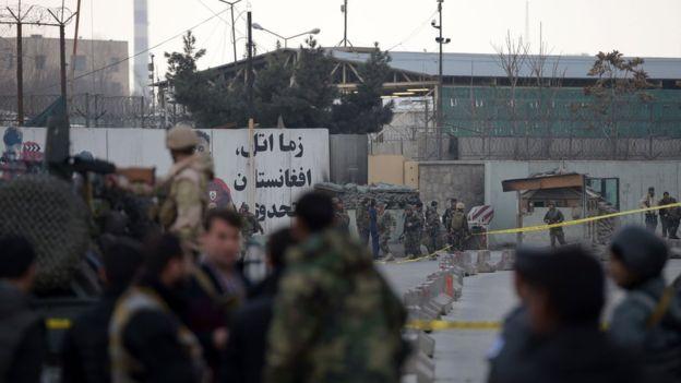 Dablay weerartay isbitaal milatari oo kuyaala magaalada Kabul ee Afghanistan. [Xigashada Sawirka: Reuters]