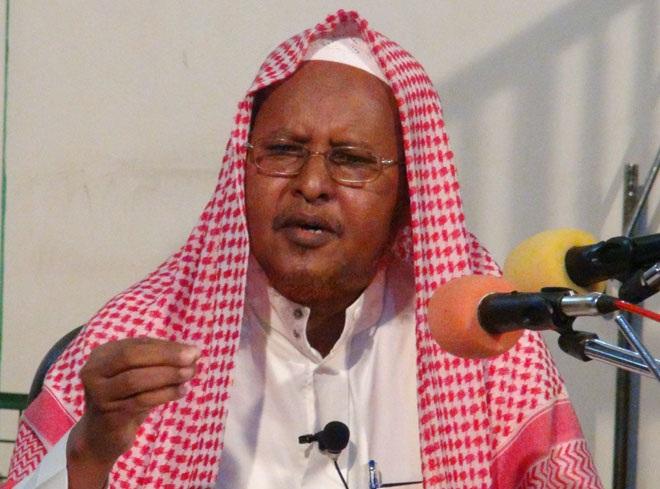 Guddoomiyaha Haayadda Culimada Soomaaliyeed Shiikh Bashiir Axmed Salaad. [Sawirka: Archive]