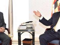 Somali President arrives in Uganda