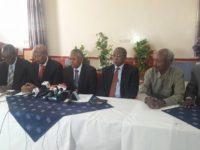 Somaliland iyo Khaatumo oo heshiis ku kala saxiixday gudaha magaalada Hargeysa. [Sawirka: Twitter]