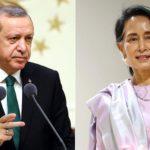 Madaxweyne Erdogan oo hoggaamiyaha Myanmar kala hadlay dhibbaatooyinka Muslimiinta Rohingya