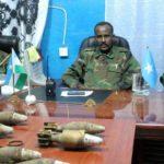 Quantities of mortar shells captured in Bosaso