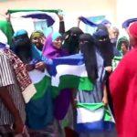 Mudaharaad looga soo horjeedo joogitaanka Somaliland oo ka dhacay magaalada Laascaano
