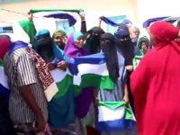 Mudaharaad looga soo horjeedo joogitaanka Somaliland oo ka dhacay magaalada Laascaano. [Sawirka]