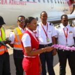 Air Djibouti oo bilowday duulimaadkeedii ugu horeeyay ee u dhaxeeya Garoowe iyo Jabuuti